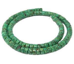 Perles de Pierre Turquoise Synthèse Rondelles Heishi 6x3mm Fil 39cm 135pc env