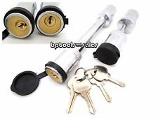 "New Keyed Alike 5/8"" Hitch Pin & 1/4"" Trailer Coupler Lock Set Same Key Locking"