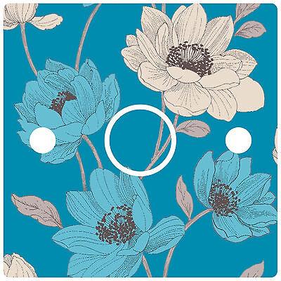 Blue Floral Light Switch Sticker vinyl sophie conran bohemia teal b&qwallpaper