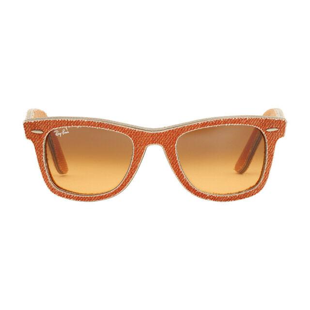 e496bb8d99 Ray-Ban Wayfarer Acetate Frame Orange Gradient Lens Unisex Sunglasses RB2140