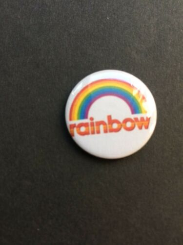 Rainbow retro tv show 25mm badge