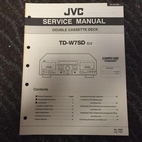 Original JVC Service Manual for TD Model Cassette Decks ~ Select One