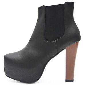 Chelsea-senora-botines-botas-de-plataforma-tacon-alto-negro-parrafo-madera-Style