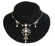 Antique Arts & Crafts Mississippi 14kt Natural Baroque Pearl Wedding Necklace