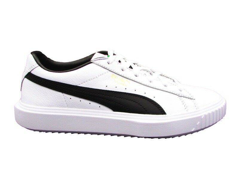 PUMA SNEAKERS BREAKER LEATHER WHITE BLACK 366078-02