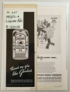 1950-039-s-Print-Ads-LIQUOR-ALCOHOL-Lot-of-10-Ten-Johnnie-Walker-Old-Grand-Dad-etc