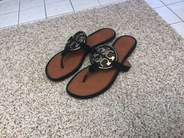Tory Burch Miller Metal Suede Leather Sandals 7.5 M Retail $228