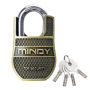 Mindy-40mm-High-Security-Padlock-Half-Shroud-Alloy-Anti-cut-Outdoor-Safety-4keys