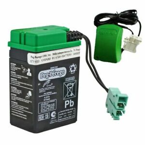 **NEW** Peg Perego 6 volt battery & Charger Combo  IAKB0509 OEM Genuine 6v
