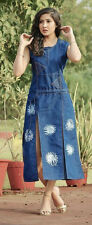 INDIAN DESIGNER HEAVY DENIM KURTI L SIZE
