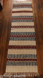 Antique Swedish Handmade Rag Rug