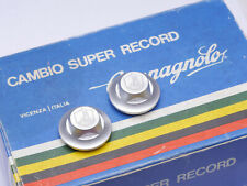 """NOS VINTAGE /""""CAMPAGNOLO RECORD/"""" CLONE PEDAL SPINDLE BOLT COVERS DUST CAPS SILVER"""
