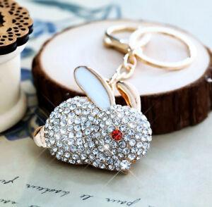 Women-Crystal-Gold-Rabbit-Charm-For-Women-Bag-Handbag-Charm-Keyring-Keychain