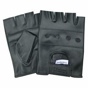 Prime Leather Fingerlose Herren Gewicht Training Fahrrad Rollstuhl Handschuhe