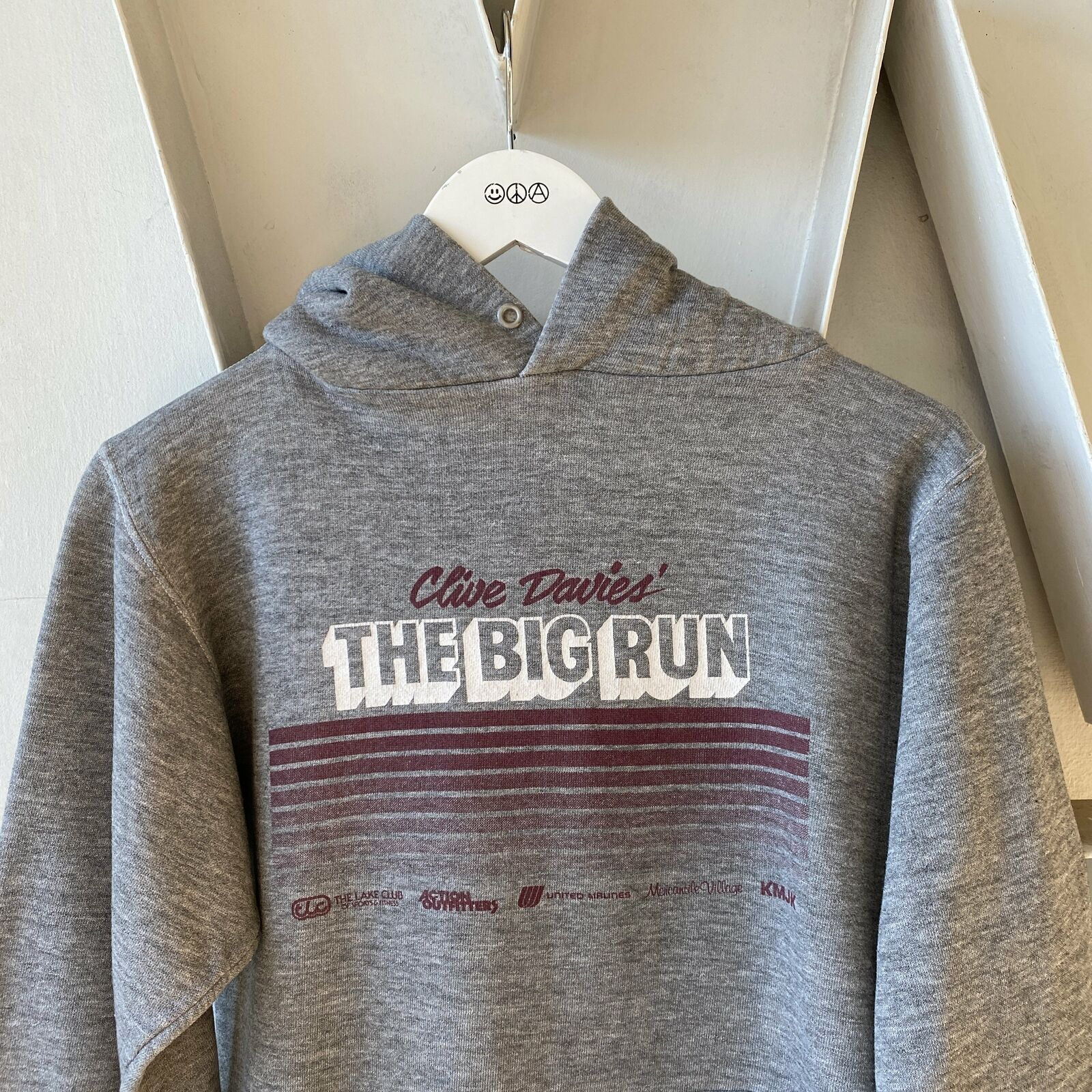 Vintage Heather 70s Russell The Big Run Hoodie Cl… - image 2