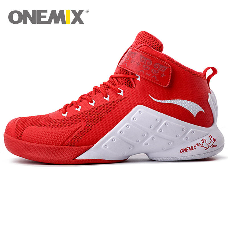 ONEMIX Men's Performance Basketball shoes Classic Gym Outdoor High Top Sneakers