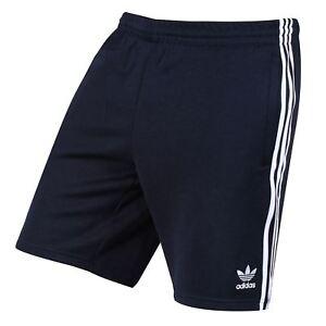 Détails sur Adidas Originaux Superstar Short Bleu Marine HOMME 3 Bandes Vacances Été