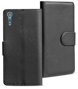 Sony-Xperia-XZ-X-Compact-Genuine-Leather-Wallet-Card-Slot-Case-Magnet-Cover-New