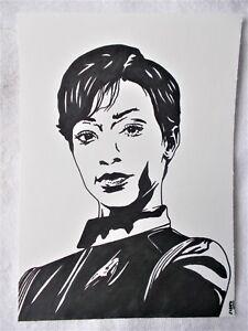 A4-Marker-Pen-Sketch-Sonequa-Martin-Green-Michael-Burnham-Star-Trek-Discovery-A