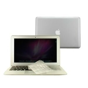 2-in-1-Rubberized-CLEAR-Case-for-Macbook-AIR-13-034-A1369-with-TPU-Keyboard-Cover