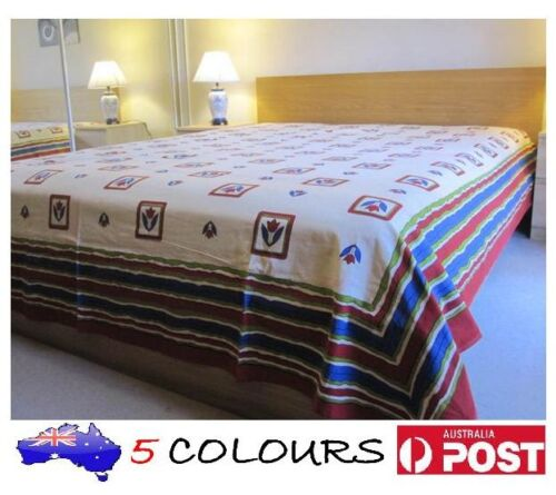 BP01-HANDMADE TAPESTRY BED SHEET SPREAD TABLE CLOTH-HAND BLOCK PRINT-100/% COTTON