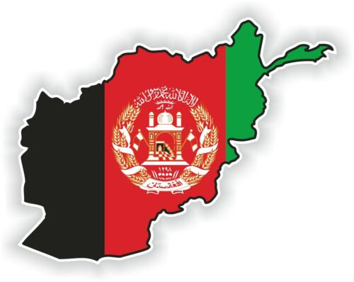 1x STICKER Afghanistan SILHOUETTE BUMPER DECAL MAP FLAG
