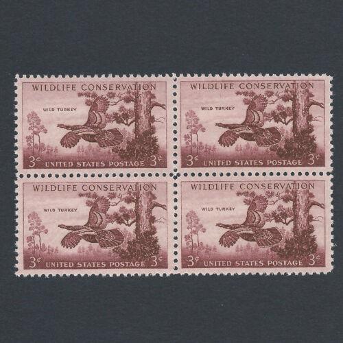 Wild Turkey Vintage Set of 4 stamps 63 Years Old!