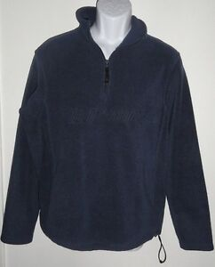OLD NAVY MEN'S FLEECE PULLOVER BLUE MENS MEDIUM HALF-ZIP* | eBay