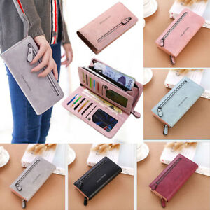 Women-Lady-Clutch-Leather-Wallet-Long-Card-Holder-Phone-Bag-Case-Purse-Handbag