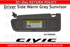 Genuine OEM Honda Civic Driver s Side NH686L Sunvisor 2009-2011 ... e90c8a6c4df