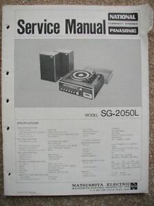 National-Panasonic-service-manual-SG-2050L
