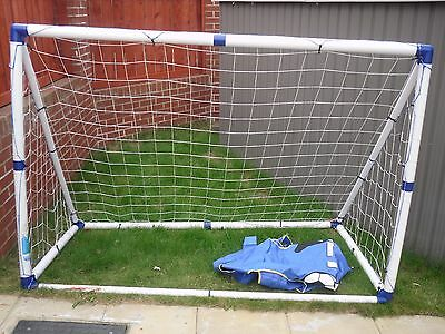c84d898a KIDS FOOTBALL GOALS POSTS - 2 IN 1 TARGET SHOT AND 6FT GOAL SET | eBay