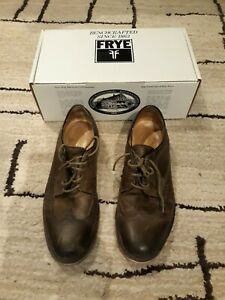 Men-039-s-Frye-James-Wingtip-Fatigue-84625-Brown-Size-12M-USED