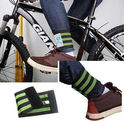 Beam Clip Bottom Belt Reflective Safe Bike Arm Strap Leg Pants Band