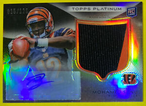 2012-Mohamed-Sanu-Topps-Platinum-Two-Color-Patch-Rookie-AUTO-RC-125-HTF