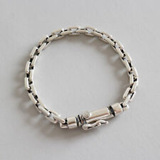 NEW Retro Genuine s925 Sterling Silver Rolo Link Chain Bracelets Unisex Vintage