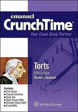 Emanuel CrunchTime: Torts by Steven Emanuel (2015, Paperback, New Edition)