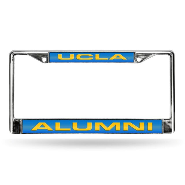 Rico UCLA Bruins NCAA Black Metal Laser License Plate Frame Set of 2