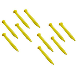 10x Plastic Awning Tent Pegs Nails Sand Ground Stakes Outdoor Camping Heavy Duty