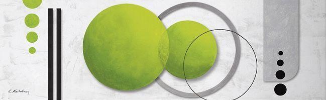 Joyeuses fêtes et bonnes affaires! K.Kostolny : Vert Fusion moderne II image-châssis 40x130 abstrait moderne Fusion 9246c9