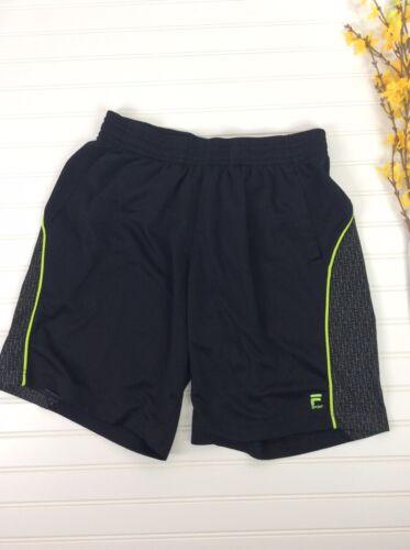 Fila Sport Shorts Black Tennis Neon Yellow Camo Me