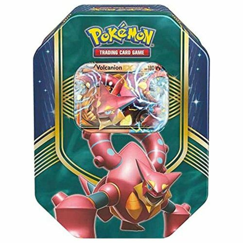 Pokemon Volcanion EX 2016 Fall Battle Heart Collector's Tin (4 Boosters + Promo)