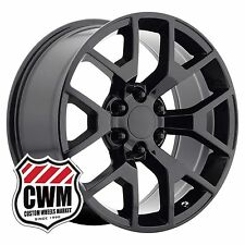 (1) 22 inch OE Performance 169GB Sierra Wheel Gloss Black Rim fit Chevy 6x139.7