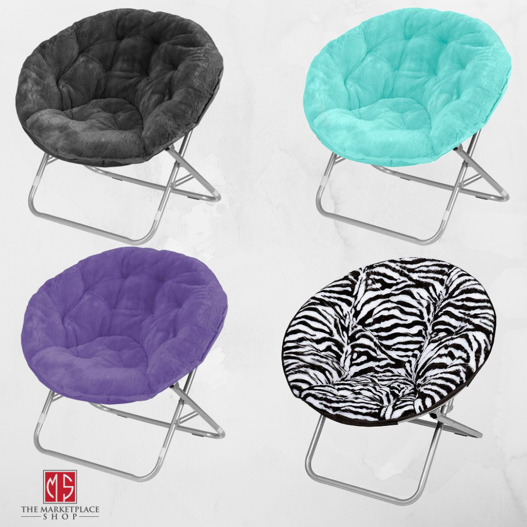Image of: Purple Round Chair Folding Saucer Moon Teen Dorm Living Room Den Kids Seat Girls For Sale Online Ebay