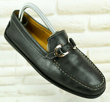 TOD's Womens Real Leather Black Flats Loafers Moccasin TODS Size 6 UK 39 EU