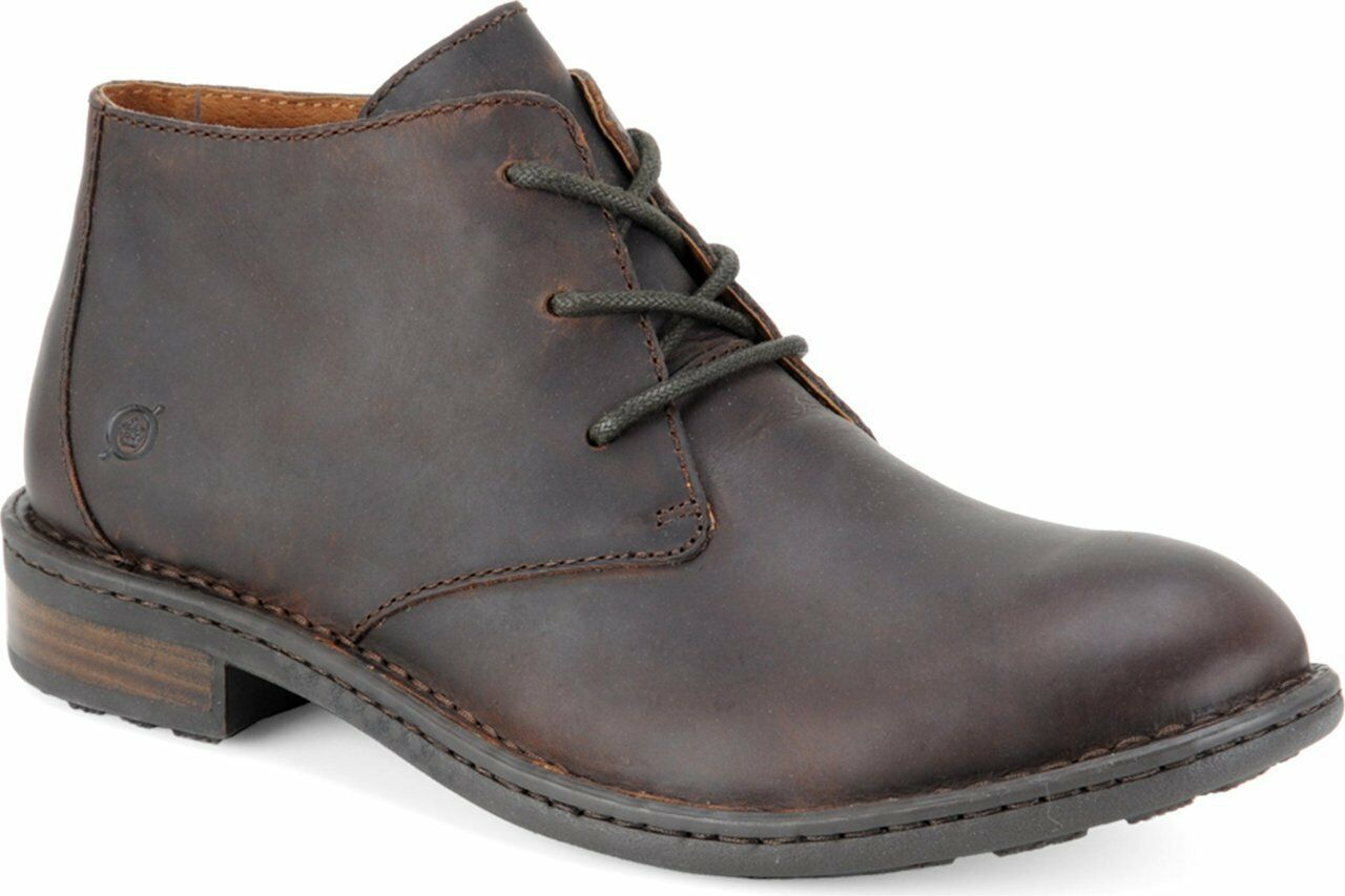 Born Men's Lace Up Chukka Boot Twain Mink Brown Leather H10906