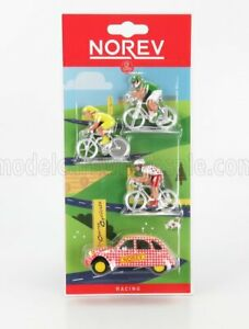 NOREV 1/55 CITROEN | 2CV 1961 WITH 3X BICYCLES | RED YELLOW