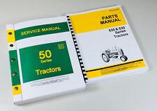 Service Manual Set For John Deere 520 530 Tractor Repair Parts Catalog Shop Book