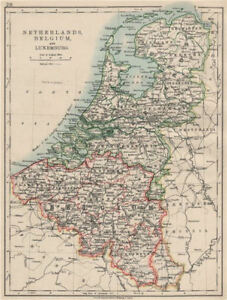 image is loading benelux netherlands belgium luxemburg holland johnston 1903 old