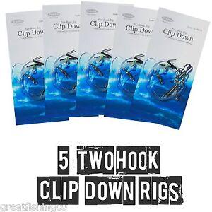 2-Hook-Clip-Down-Rigs-X-5-Sea-Fishing-Rigs-sea-fishing-terminal-tackle